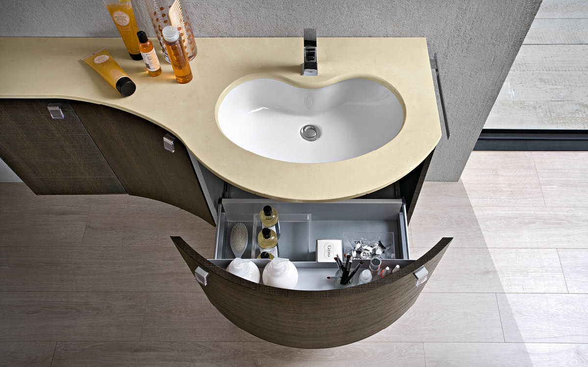 Arredo bagno baustudio for Mobili bagno componibili online