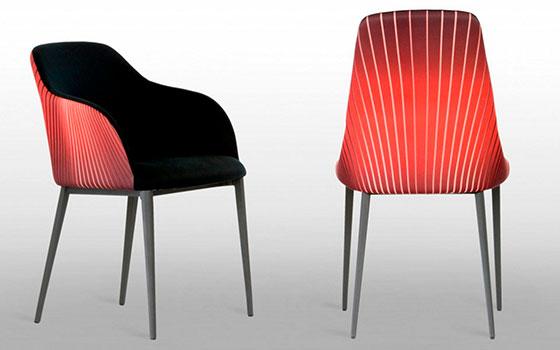 riflessi sedia sofia sunburst raggi solari rossa nera baustudio bolzano alto adige