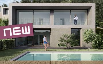 Ferienwohnung Immobilie in Albisano, bei Torri del Benaco am Gardasee. Wohnung, Villa mit Schwimmbad, Pool, Seeblick, Garten, Garage. Verkauf von Baustudio.