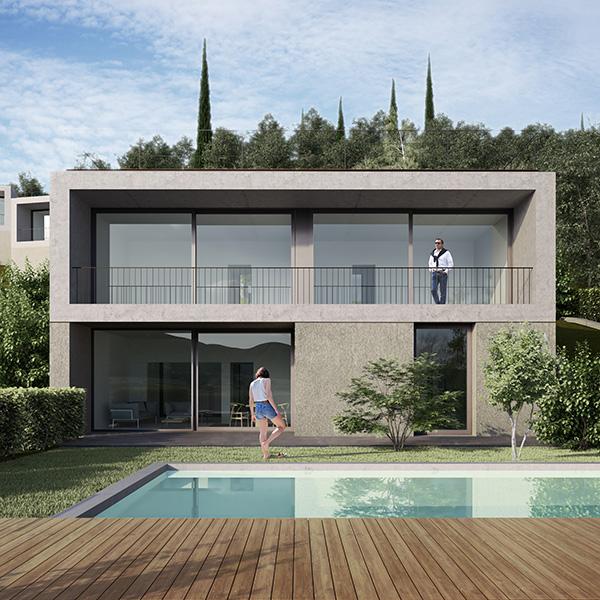 Appartamento a Albisano, Torri del Benaco con vista lago, piscina e garage. Vendita immobile da Baustudio Bolzano.